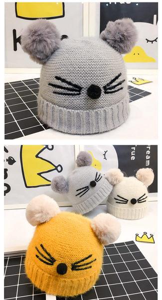 毛線帽 秋冬兒童無尾熊保暖毛線針織帽 (6-18個月)