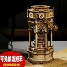 若態若客木質機械八音盒手工拼裝維多利亞提燈音樂盒diy創意禮物