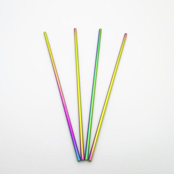 【七彩長直管】食品級正304不銹鋼吸管 18/8不鏽鋼環保彩色吸管 螺旋紋-14號