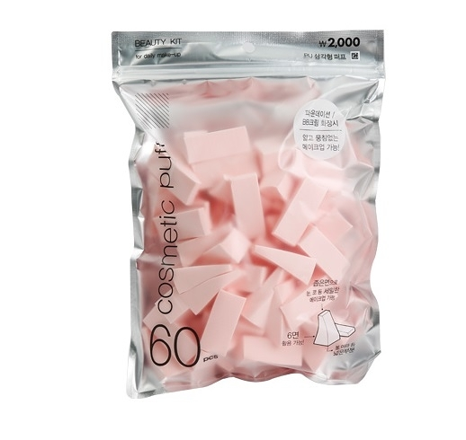 韓國大創 DAISO 上妝粉撲 多角形粉撲 美妝蛋 粉撲/海綿 60入