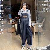 古著牛仔背帶褲女日系學生可愛大碼胖mm顯瘦韓版寬鬆闊腿連身褲子 奇妙商鋪