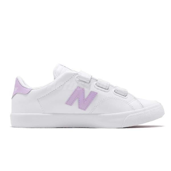 New Balance 休閒鞋 NB 210 N字鞋 白 紫 皮革 魔鬼氈 韓系 復古 運動鞋 女鞋【ACS】 AM210VMPD