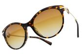 BVLGARI 太陽眼鏡 BG8210BF 504-T5 (琥珀棕金-漸層棕鏡片) 閃亮貓眼造型款 墨鏡 # 金橘眼鏡