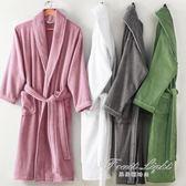 浴袍男女士純棉毛巾料加厚長款浴衣睡袍情侶全棉 果果輕時尚