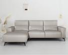 【歐雅系統家具】亞德林荷蘭牛皮沙發-L型面左-米灰 / 現成沙發 / 牛皮沙發/ 三人沙發 / 沙發