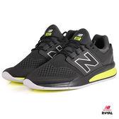 New Balance 新竹皇家 247 鐵灰/螢光黃 網布 套入式 運動鞋 男款 NO.A9895