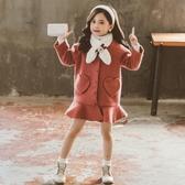 女童毛呢外套 女大童毛呢外套小女孩冬九公主上衣秋裝8歲兒童呢子大衣2020新款 零度3C