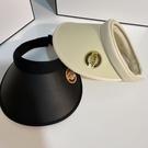 晚晚同款遮陽帽女韓國UV夏季簡約百搭空頂帽潮戶外防曬大檐遮臉
