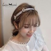 少女仙美頭飾發箍女壓發小清新森系頭箍簡約甜美優雅韓國氣質發卡