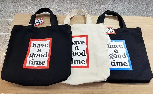 🇰🇷正韓- have a good time 文青帆布包 帆布提袋 帆布包 購物袋 兩用款 H1533