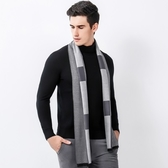 羊毛圍巾-秋冬格子色塊休閒男女披肩3色73ph19【巴黎精品】