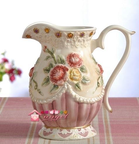 【協貿國際】歐式維多利亞玫瑰花陶瓷花瓶