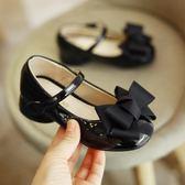 女童皮鞋小高跟鞋