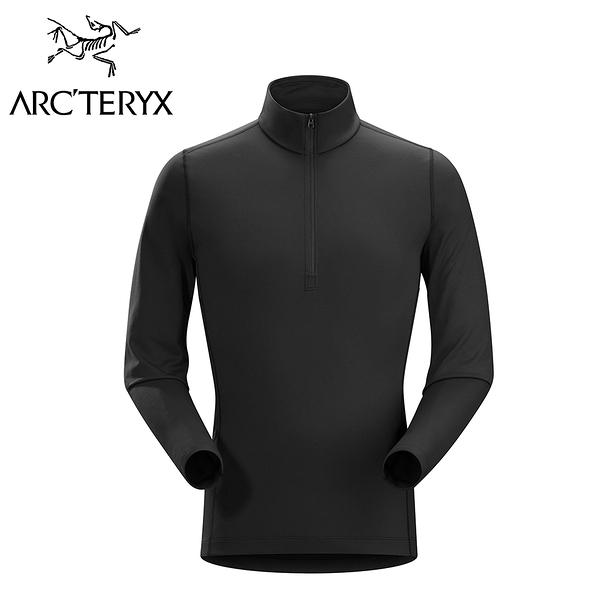 Arc'teryx 始祖鳥 Phase AR Zip Neck LS 保暖透氣排汗衣 黑色 男款 #16261