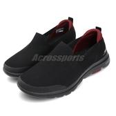 Skechers 休閒鞋 Go Walk 5-Prized 黑 紅 男鞋 建走鞋 懶人鞋 舒適緩震 運動鞋【PUMP306】 55500BBK