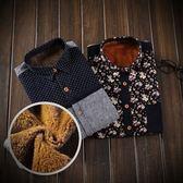 長袖襯衫-加絨時尚拼色冬季保暖男上衣2色73po2[巴黎精品]