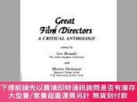 二手書博民逛書店Great罕見Film Directors - Critical Essays-偉大的電影導演-評論文章Y41