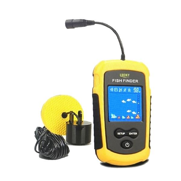 [9美國直購] LUCKY手持探魚器 Depth Finder Fishing Gear with Sonar Transducer 船釣 海釣 撈魚