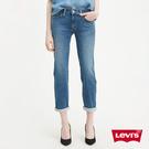 Levis 男友褲 / 中腰寬鬆版牛仔褲 / 淺藍刷白 / 彈性布料