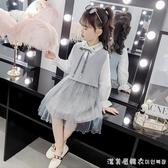 女童套裝秋裝2020新款韓版兒童洋氣兩件套潮衣女孩時髦春秋佯裝 漾美眉韓衣