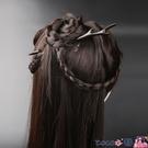熱賣髮簪 髮簪簡約現代女古風日常古裝步搖漢服頭飾髮釵黑檀木簪子簡約盤髮 coco