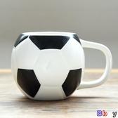 【貝貝】馬克杯 禮物卡通足球杯馬克杯家用陶瓷牛奶早餐杯創意水杯可愛咖啡杯