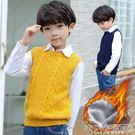 男童針織衫馬甲秋冬季新品上市新款加絨加厚純棉韓版兒童保暖背心童裝『新佰數位屋』
