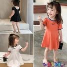 兒童連身裙 童裝女童2021夏裝新款短袖裙子兒童洋氣網紅夏季公主裙寶寶連身裙 618狂歡