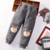 新款童裝冬款男童女童加絨加厚冬褲圣誕節褲收口褲兒童長褲子