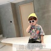 男童短袖t恤潮寶寶夏季洋氣打底衫小兒童夏裝半袖上衣韓版2021新 夏季新品