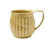 【日本製】日本製 大容量陶製馬克杯 黃色 SD-6253 -