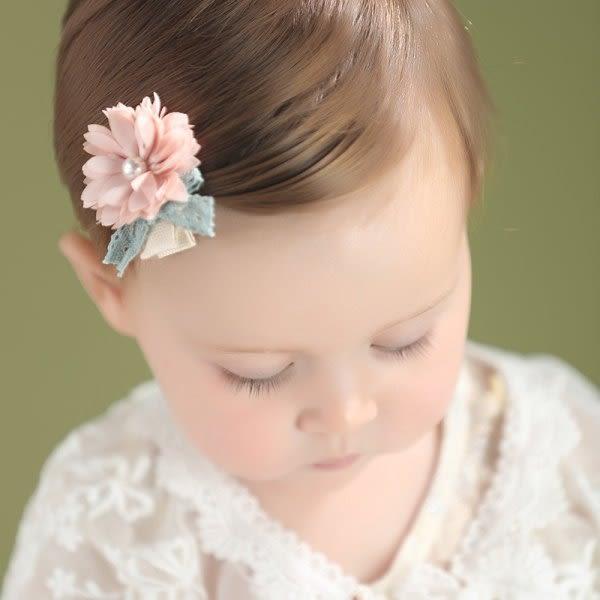 果漾妮妮  韓國款珍珠花朵 全包夾/寶寶髮夾/兒童髮飾/瀏海夾/邊夾【I11822】