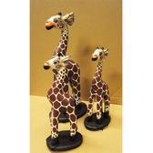 【敦煌樂器】木雕桌上型長頸鹿 20 公分 (一隻)