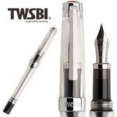 臺灣TWSBI 三文堂VAC mini 透黑筆桿負壓上墨鋼筆支