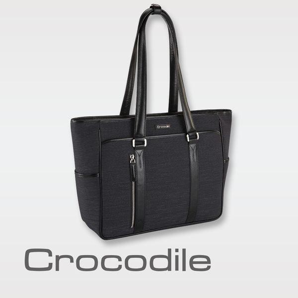 Crocodile Marvel布配皮系列橫式托特包   0104-07605