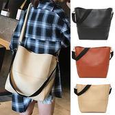 托特子母包-氣質百搭款雙背帶素面小羊皮肩背包 買一送一限時加贈同色側背包
