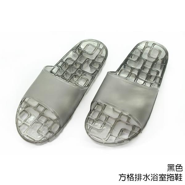 【333家居鞋館】透氣快乾★方格排水浴室拖鞋-白