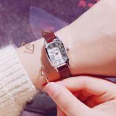 方形小錶盤細帶防水學生羅馬數字休閒