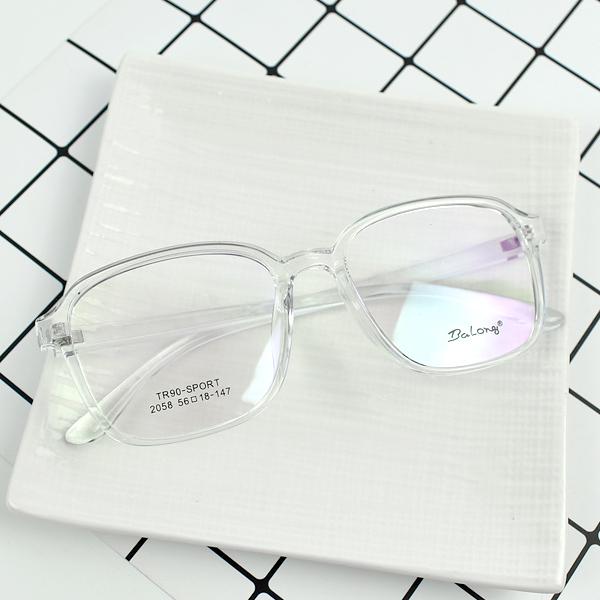 配眼鏡 裸感透明方型膠框NYA73