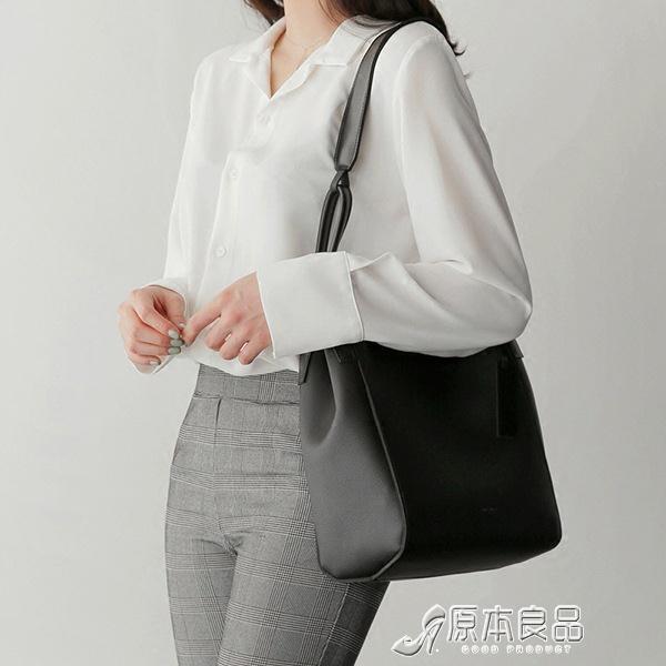 手提包 韓國東大門2021新款女包單肩大包簡約手提包子母包 16【618特惠】