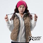 PolarStar 女 雙面穿羽絨背心『卡其』P18256 戶外 休閒 登山 露營 保暖 禦寒 防風 刷毛
