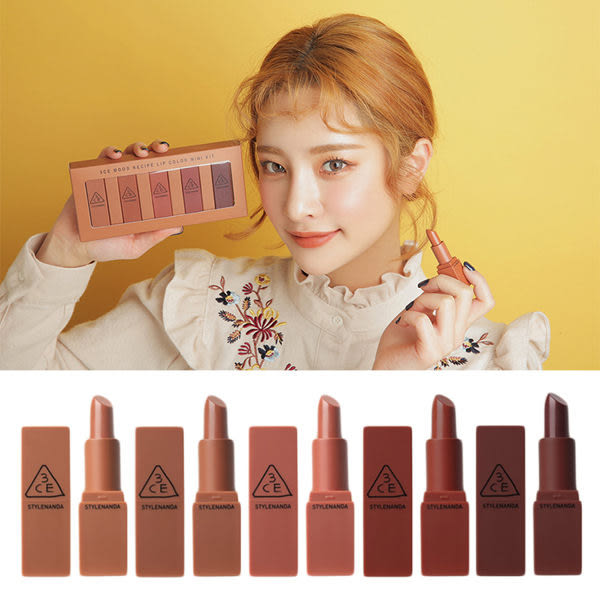韓國 3CE MOOD RECIPE 微醺玫瑰霧色唇膏 Mini款(1.5g)【庫奇小舖】