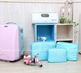 【kabas三件組】韓系透視旅行圓點收納袋組 條紋整理包 收納箱(3件套)