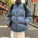 棉服男 冬季潮流棉襖外套加厚加絨面包服寬鬆羽絨棉衣潮牌ins工裝棉服男【快速出貨八折下殺】