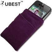 ★皮套達人★ Apple iPhone 4 抽取式厚絨布套+螢幕保護貼