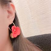 韓國直飛-高彩小花金屬C圈耳環-抗敏鋼針-耳針-042805-pipima