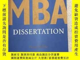 二手書博民逛書店Writing罕見Your MBA Dissertation 寫