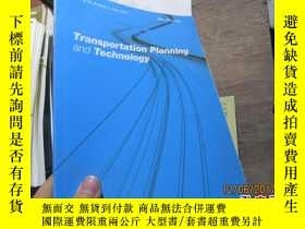 二手書博民逛書店transportation罕見planning and tec