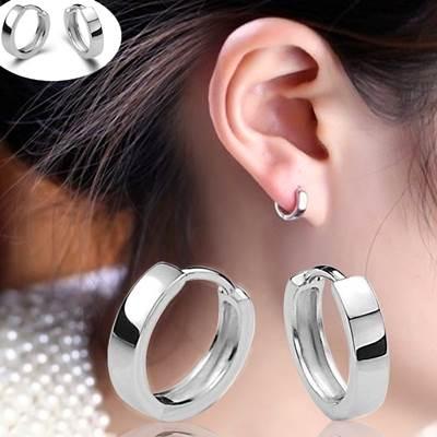 925純銀耳環(耳針式)-經典個性流行生日情人節禮物女飾品73ao15【巴黎精品】
