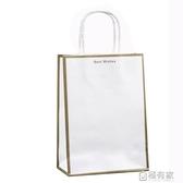 環保牛皮紙袋手提袋子大號外賣打包拎袋服裝購物小禮品包裝袋定制